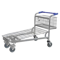 Convenient Storage Cart Foldable Warehouse Trolley