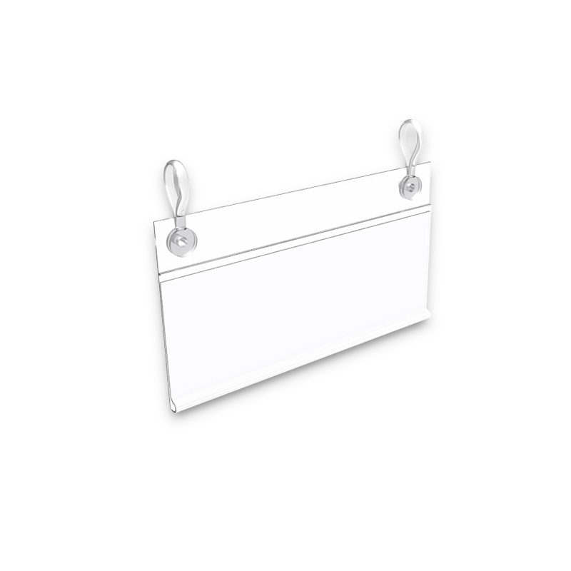 price holder for wire shelf and basket
