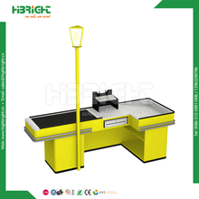 Checkout Counter with Conveyor Belt