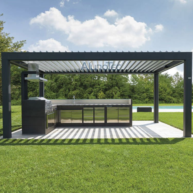Remote Control Waterproof Outdoor Kitchen Pergola Kits