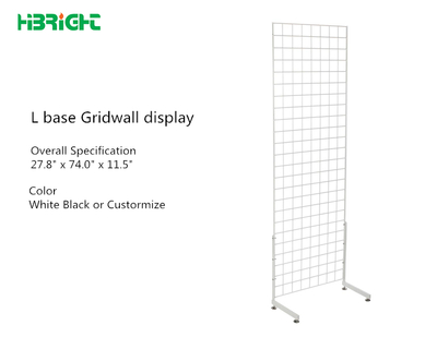 L base Gridwall Display Stand
