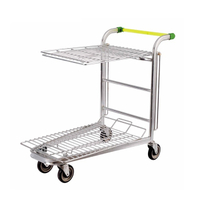 Supermarket Heavy Duty Transporter Warehouse Platform Cart
