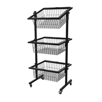 3 Tier Basket Display with Casters