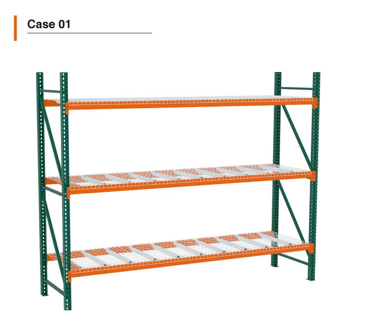 Heavy Duty Teardrop Rack Shelves For Warehouse