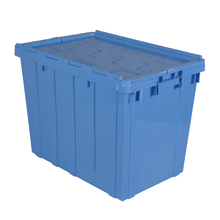 Plastic Stackable Crate Attached Lid Container NLB-6