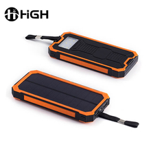Customized Logo Outdoor Solar Power Charger Portable Waterproof Solar Power Bank