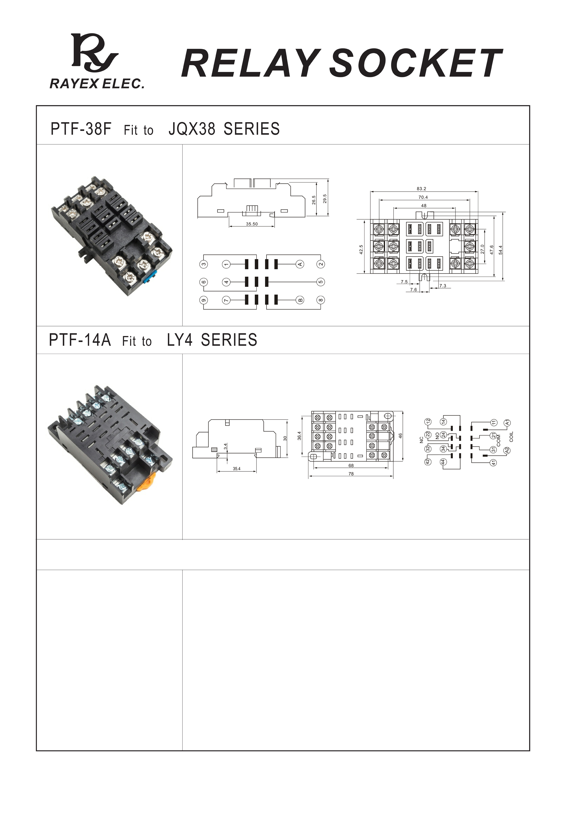 JQX38,LY4-SOCKET-1
